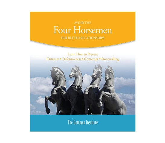 Avoid the Four Horsemen for Better Relationships cover