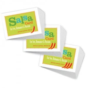 Salsa Cards Mild Medium & Hot
