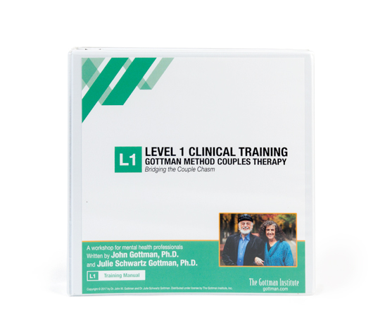 Level  Training Manual  Professionals  The Gottman Institute