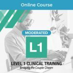 Moderated online clinical training in couples therapy